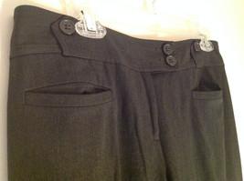 Ann Taylor Loft Dark Gray 2 Button Waist Casual Pants Size 6 image 3