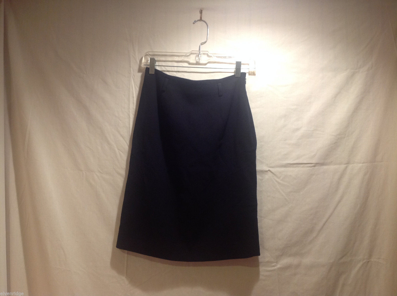 Ralph Lauren Black Knee Length Pencil Skirt Lined NO Size tag (see measurements)