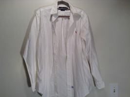 Ralph Lauren 100 Percent Cotton Long Sleeve White Dress Shirt Size 15 by 33