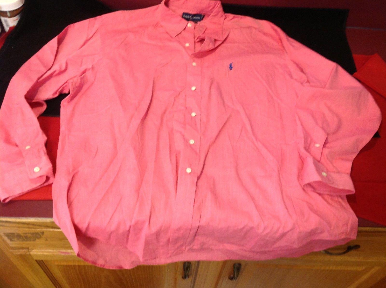 Ralph Lauren long sleeve pink dress shirt for man size XL
