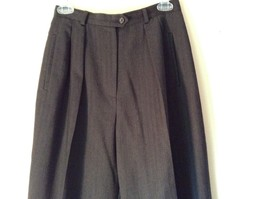 Ralph Lauren Size 6 Black Pleated Front Dress Pants Worsted Wool