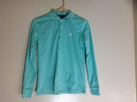 Ralph Lauren Golf Teal Mint Long Sleeve Polo Shirt Small Emblem on Chest Size S image 1