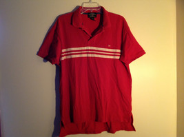 Ralph Lauren Red with 3 White Stripes Short Sleeve Polo Shirt Size Large