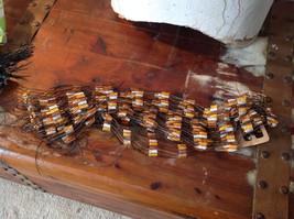 Orange and Brown Filigree Scarf Headband Belt Three in One image 4