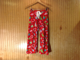 Red Christmas Patterned Pajama Bottoms by SO Flame Resistant Size 12