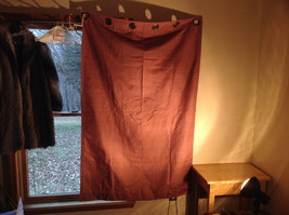 Red White Curtain Metal Rings for Hanging  64 Inches by 42 Inches