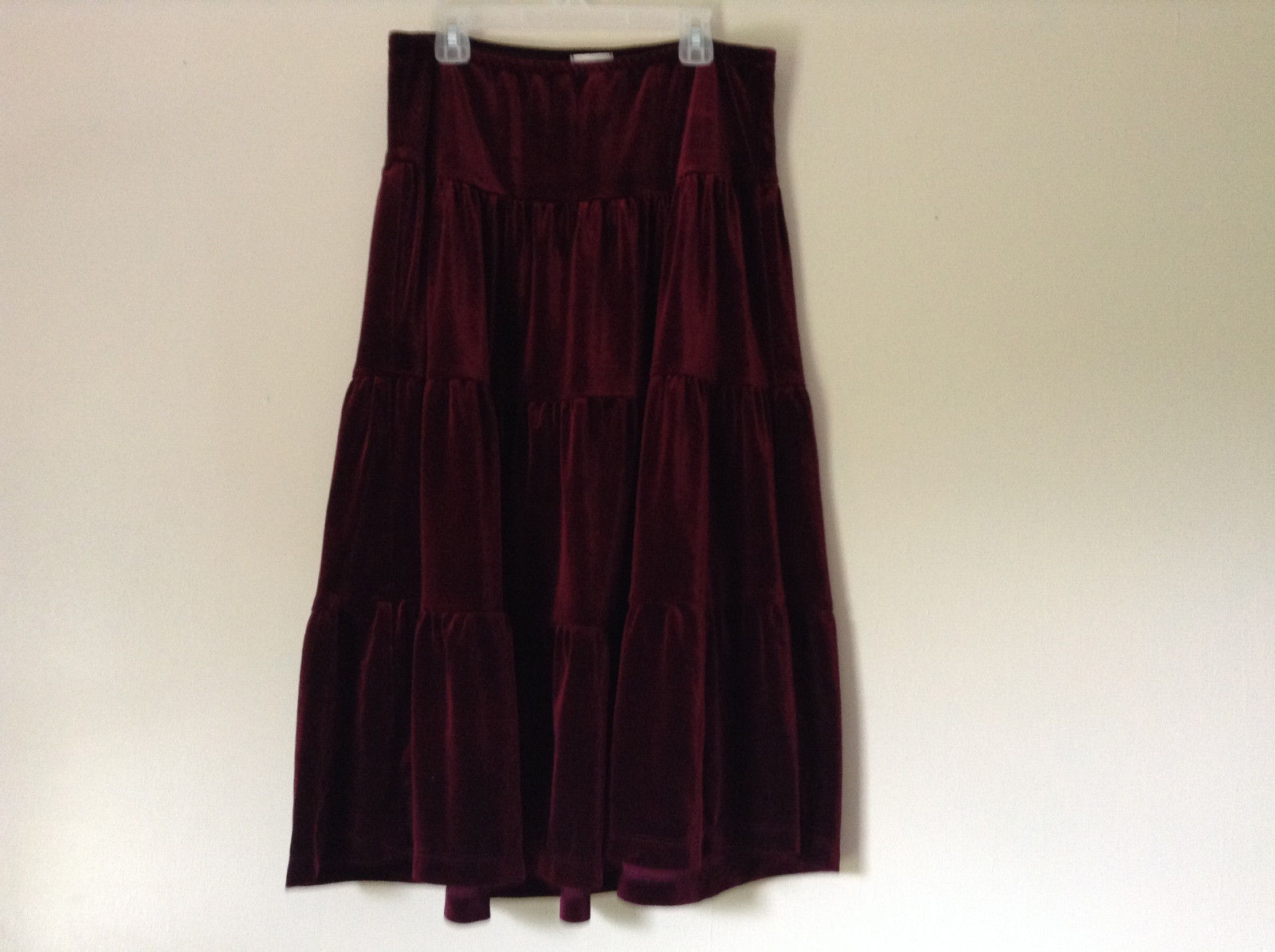 Red Velour Skirt by Ruth Size Medium