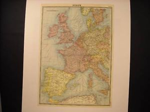 Reprint of vintage School Map of Europe