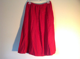 Red Elastic Waist Haldor A Line Style Skirt Made in USA Size M to L image 1
