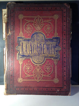 Red L Academia 1877 Spanish Book Appears to be Encyclopedia or Reference Book image 1