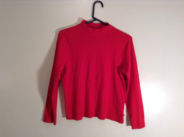 Red Mock Turtleneck Top Liz Claiborne Petite Size M Petite Long Sleeves image 1