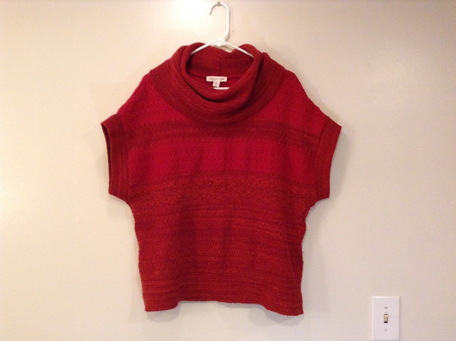 Red Short Sleeve Turtleneck Sweater Coldwater Creek Size Small 6 to 8