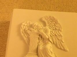 Angel trinket box  with angel resting head on pillar cream colored image 5