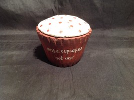 Red Wooden Cupcake Decoration Make Cupcakes Not War