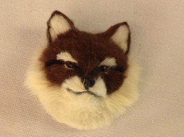 Red fox   furry refrigerator magnet in 3D image 1
