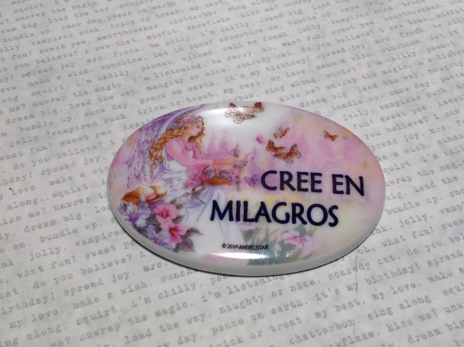 Refrigerator Magnet Cree en Milagros Believe in Miracles with Angel