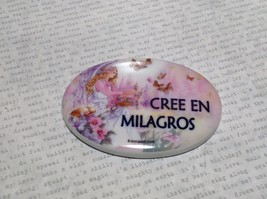 Refrigerator Magnet Cree en Milagros Believe in Miracles with Angel image 1