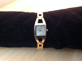 Relic Square Face Stainless Steel Gold Tone Clasp Closure Adjustable Wristwatch