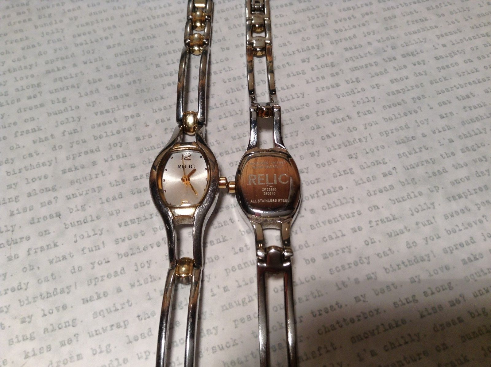 Relic ZR33580 Two Tone Gold and Silver Wristwatch Two Available