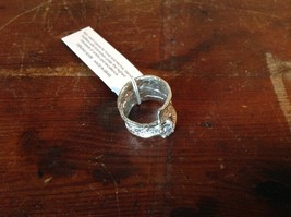 Relief Textured Large CZ Handcrafted 925 Sterling Silver Ring Size 7