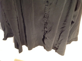 Lovely Susan Graver Black Jacket Shirt Button Up Long Sleeve Collared Size 3X image 2