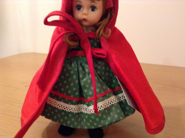 Madame Alexander Collectible Doll Little Red Riding Hood in Green Dress, no box image 3