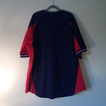 Majestic GIANTS Short Sleeve Navy Blue Red and White Button Down Shirt Size XXL image 7