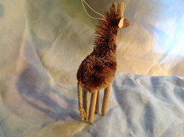 Palm Fiber Giraffe Brush Animal Eco Fiber Sustainable Ornament image 4