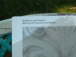 Matted Poster Soldiers and Sailer Memorial Fountain and Park 1971 image 2