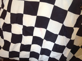 Max Mara Black and White Checkered Short Sleeve Button Down Blouse No Size image 3