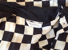 Max Mara Black and White Checkered Short Sleeve Button Down Blouse No Size image 9