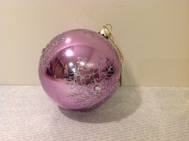 Melrose Glass Chirstmas Tree Ball Ornament Snowflakes Light Violet image 3