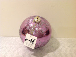 Melrose Glass Chirstmas Tree Ball Ornament Snowflakes Light Violet image 4