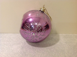 Melrose Glass Chirstmas Tree Ball Ornament Snowflakes Light Violet image 2