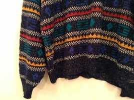 McGregor Size Large Black with Green Yellow Blue Red Geometric Lines Sweater image 4