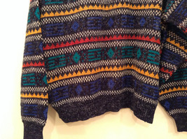 McGregor Size Large Black with Green Yellow Blue Red Geometric Lines Sweater image 6