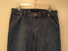Medium Wash Blue Jeans New York and Company Size 12 Very Good Condition image 3