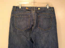 Medium Wash Blue Jeans New York and Company Size 12 Very Good Condition image 6