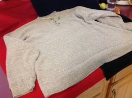 Mens Heathered Light Brown Long Sleeve Thermal Henley size Medium or Large image 4