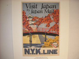 Reproduction Print Vintage Travel Ad Japan N.Y.K. Line Japan Mail