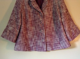 Merona Lined Blazer Purple and White Semi Long Sleeves 100% Cotton Size XL image 3