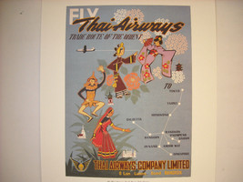 Reproduction Print of Vintage Travel Ad for Thai Airways
