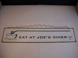 Reproduction Tin Road Sign Eat at Joe's Diner Coffee 2c