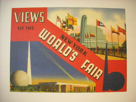 Reproduction of  Vintage New York City Souvenir World's Fair Picture Book Cover