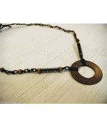 Repurposed tribal punk hand knotted necklace - $39.99