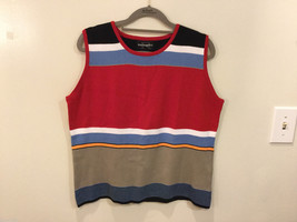Requirements 100% cotton Multicolor Striped Sleeveless Blouse Tank Top Size XL