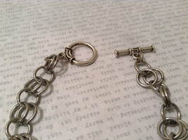 Metal Homemade Ring Bracelet Silver Tone Steam Punk image 2