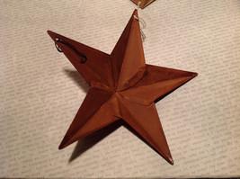 Metal Santa Star Shaped Ornament Tree or Wall Ornament Vintage Look image 3