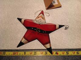 Metal Santa Star Shaped Ornament Tree or Wall Ornament Vintage Look image 4