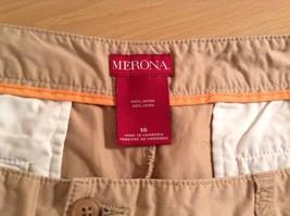 Merona 100 Percent Cotton Size 16 Sand Colored Casual Shorts Light Fabric image 7